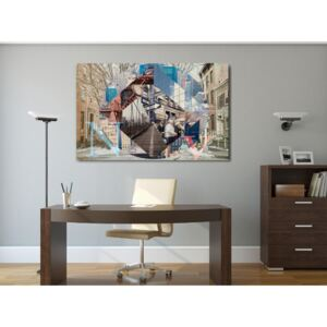 Canvas Print New York: Swirling New York (1 Part) Wide