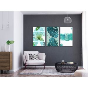 Canvas Print For Teenagers: Turquoise Tones (3 Parts)