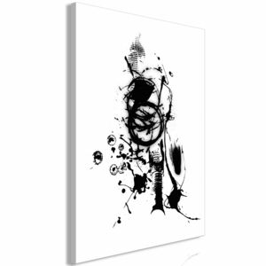 Canvas Print Black and White: Naughty Thoughts (1 Part) Vertical