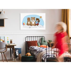 Canvas Print For Children: Teddy Bears on the Beach (1 Part) Wide