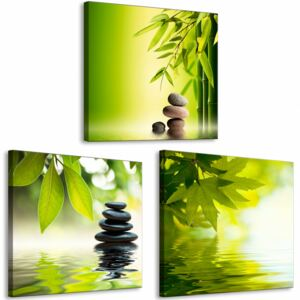 Canvas Print Zen: Spa on the Water (3 Parts)
