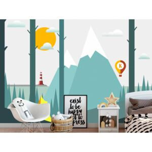 Wall mural For Children: On the Camping