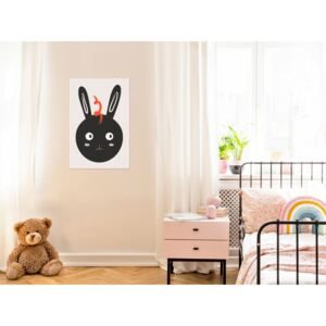Canvas Print For Children: Rabbit Sees Everything (1 Part) Vertical