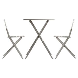 Trenton Outdoor Bistro Table and Chairs in Stone Grey