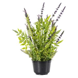 Faux Potted Lavender Spray