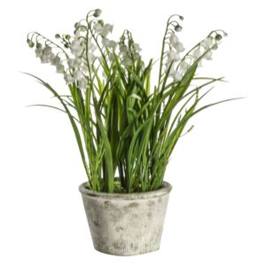 Faux Potted Lily of the Valley, Large