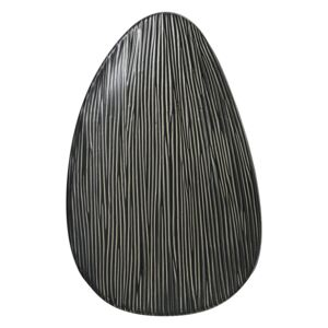 Paola Serving Platter in Charcoal, Large