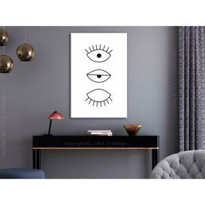 Canvas Print Black and White: In the Blink of an Eye (1 Part) Vertical