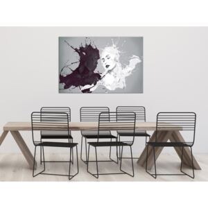 Canvas Print Black and White: Opposite (1 Part) Wide