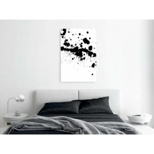 Canvas Print Black and White: Trace of Passion (1 Part) Vertical