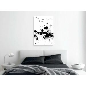 Canvas Print Black and White: Emotions Picture (1 Part) Vertical
