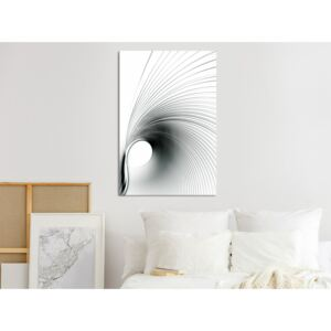 Canvas Print Black and White: Time Curve (1 Part) Vertical