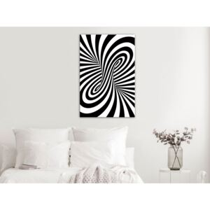 Canvas Print Black and White: Deep Hypnosis (1 Part) Vertical