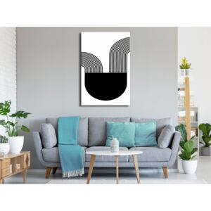 Canvas Print Black and White: Opera (1 Part) Vertical
