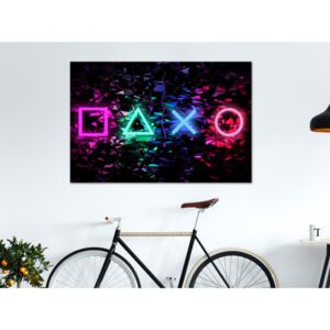 Canvas Print For Teenagers: Fun Symbols (1 Part) Wide