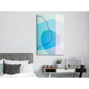 Canvas Print Abstract: Azure Butterfly (1 Part) Vertical