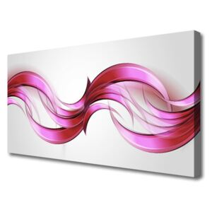 Canvas Wall art Abstract art pink brown white grey 100x50 cm
