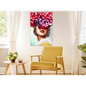 Canvas Print Abstract: Sweet Lips (1 Part) Vertical