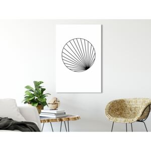 Canvas Print Black and White: Abstract Circle (1 Part) Vertical