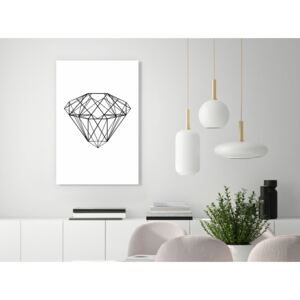 Canvas Print Black and White: Noble (1 Part) Vertical