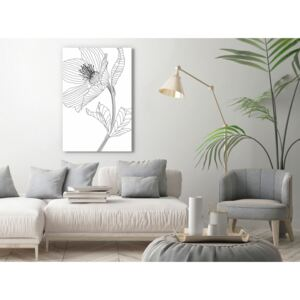 Canvas Print Black and White: Spring Sketch (1 Part) Vertical