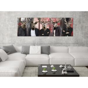Canvas Print For Teenagers: People in Masks (1 Part) Narrow