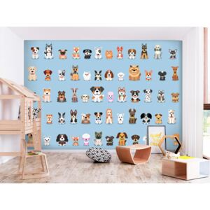 Wall mural For Children: Happy Crowd