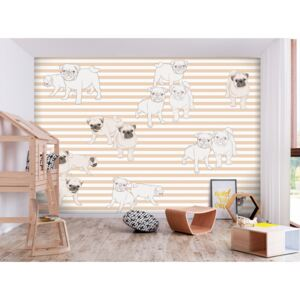 Wall mural For Children: Playful Dogs