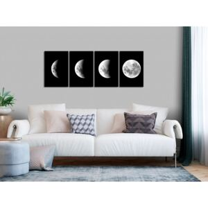 Canvas Print In the Moonlight: Moon Phases (4 Parts)