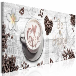 Canvas Print Kitchen: Joy Over Coffee (1 Part) Narrow - First Variant