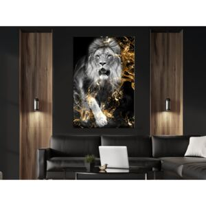 Canvas Print Cats: King in Gold (1 Part) Vertical
