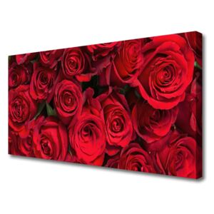 Canvas Wall art Roses floral red 140x70 cm