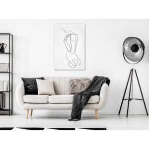 Canvas Print Black and White: Linear Act (1 Part) Vertical
