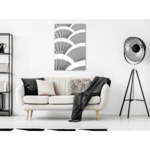 Canvas Print Black and White: White Detail (1 Part) Vertical