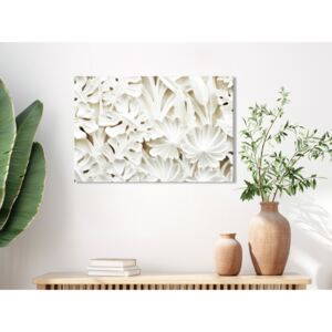 Canvas Print Other Flowers: Ceramic Leaves (1 Part) Wide