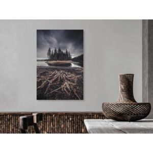 Canvas Print Landscapes: Wooded Island (1 Part) Vertical