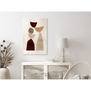 Canvas Print Abstract: Balance of Shapes (1 Part) Vertical