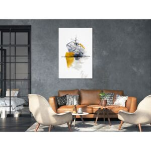 Canvas Print Abstract: Birds Over Water (1 Part) Vertical