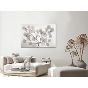 Canvas Print Black and White: Leaves in the Wind (1 Part) Wide