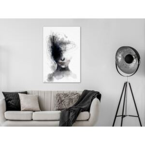 Canvas Print Black and White: Cosmic Thought (1 Part) Vertical