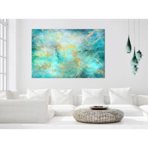 Canvas Print Black and White: Emerald Ocean (1 Part) Wide
