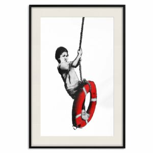 Poster Banksy: Boy on Rope [Poster]