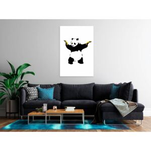 Canvas Print For Teenagers: Panda with Guns (1 Part) Vertical