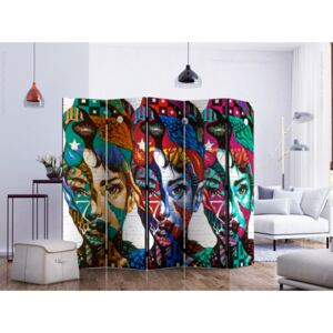 Room divider: Colorful Faces II [Room Dividers]