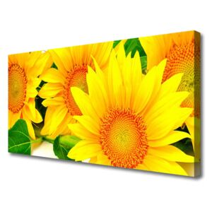 Canvas Wall art Sunflowers floral yellow 100x50 cm
