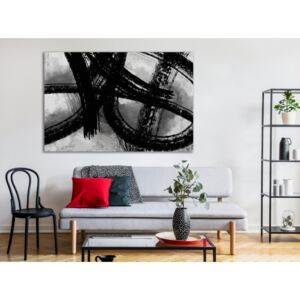 Canvas Print Black and White: Painter's Traces (1 Part) Wide