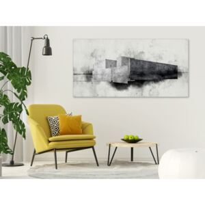 Canvas Print Black and White: Architectural Variation (1 Part)