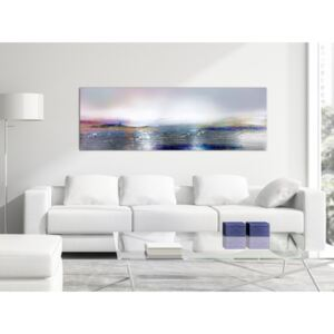Canvas Print Abstract: Silvery Landscape (1 Part) Narrow