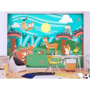 Wall mural For Children: Adventures in the Woods