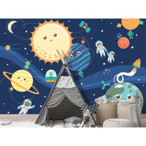 Wall mural For Children: Happy Planets